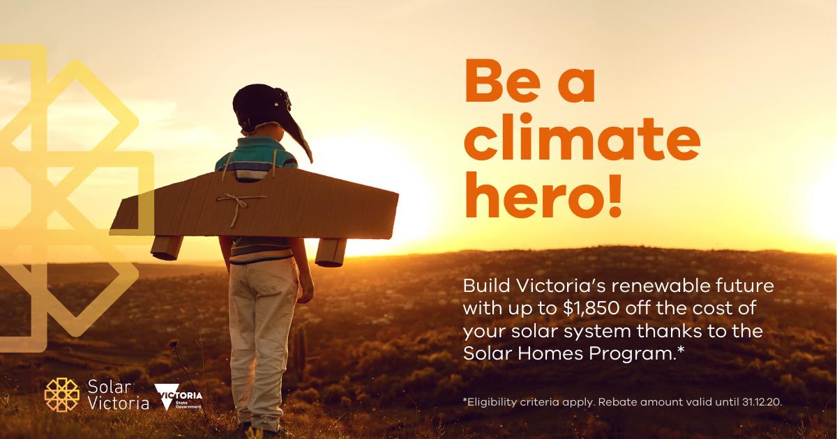Victorian Solar PV Rebate awareness slide